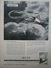 8/1956 PUB IRVING AIR CHUTE IRVIN PARACHUTE RECOVERY GUIDED WEAPON ORIGINAL AD