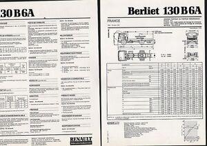 N-69-BERLIET-130-B-6-A-fiche-technique-2-pages-RENAULT-V-I-10-78