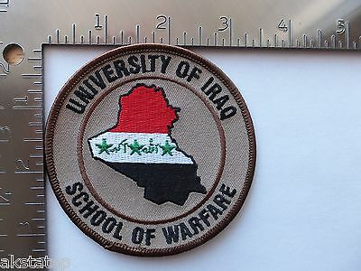SCHOOL OF WARFARE (OIF) UNIVERSITY OF IRAQ  US Army USAF USMC USN Patch