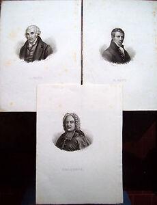 1835-LOTTO-DI-INCISIONI-RAFFIGURANTI-JAMES-WATT-HUMPHRY-DAVY-E-BELSUNCE