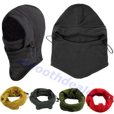 6 in 1 Thermal Fleece Balaclava Hood Police Swat Bike Wind Stopper Face Mask