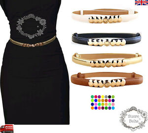 Ladies-Women-Fashion-Skinny-Thin-PU-Leather-Waist-Belt-UK-Seller-Fast-Shipping