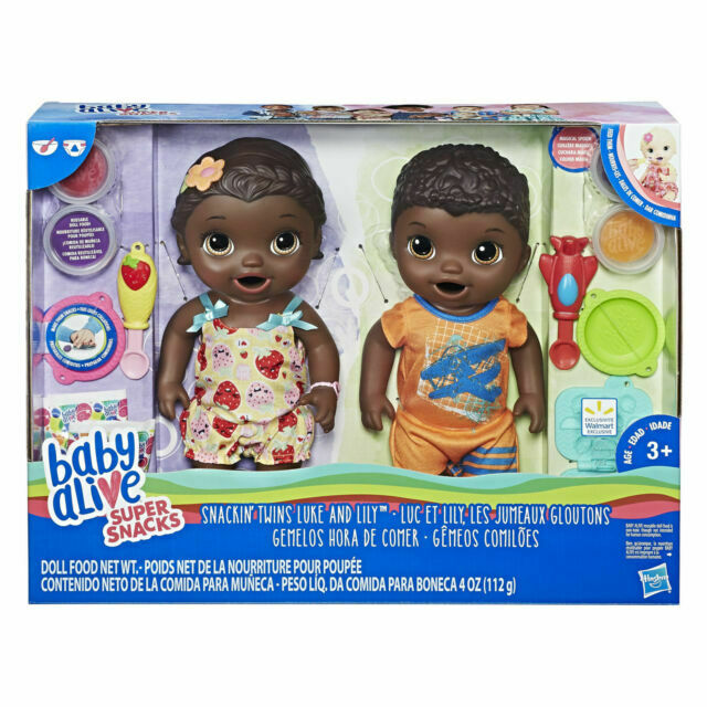 Baby Alive Super Snacks Black African American Twins Snackin Luke Lily 3 For Sale Online Ebay
