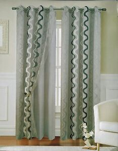 Cortina doble visillo 1 pieza 150x260cm 12 color ebay - Cortinas dobles para salon ...