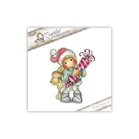 Magnolia Cling Rubber Stamp Tilda With Long Hair, NEW