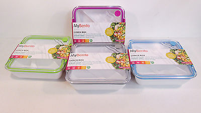 Great Price! 4 Colours 152013 Mybento Plastic Lunch Box With Clip-Seal Lid