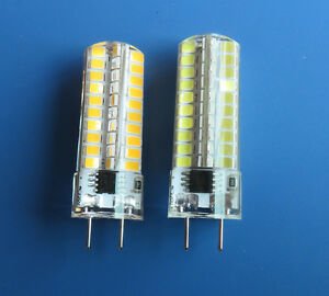 1x/10x G8 Led Dimmable bulb 5W 80-2835 SMD 110V/220V Silicone Crystal White/Warm