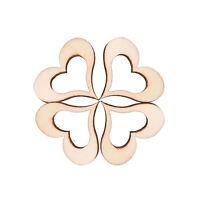 50X 3cm Wooden Mini Hollow Love Heart Wood Cutout Weddings Craft Embellishments