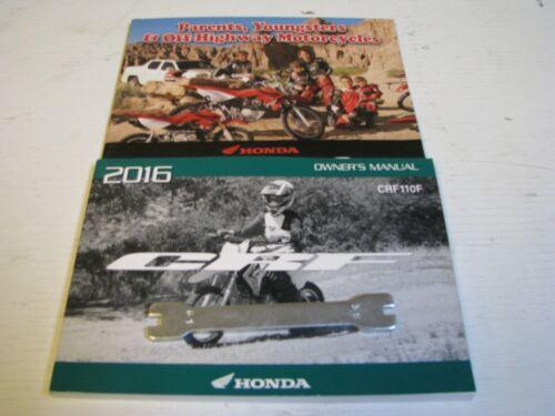 2016 16 Honda CRF110F 110F 110 owners manual booklets spoke wrench L@@K CRF