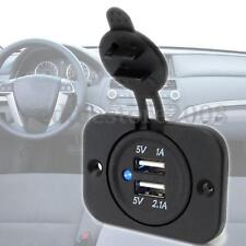12V Dual USB Car Power Adapter Charger Plug Socket Outlet For Mobile Phone IPod