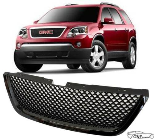 Fits 2007 2009 GMC Acadia SLT SLE Front Mesh Grill Gloss Black Grille