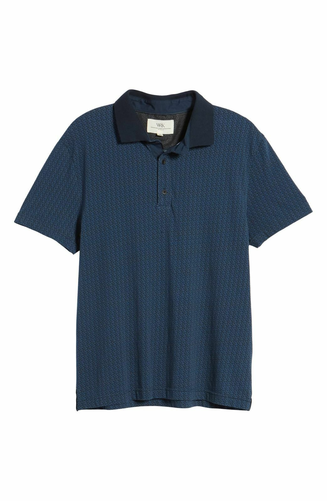aee5f861 WRK Men's SLIM-FIT SHORT SLEEVE BUTTON TOP POLO CASUAL SHIRT XL FLORAL  blueE nstwgg4736-Casual Shirts & Tops