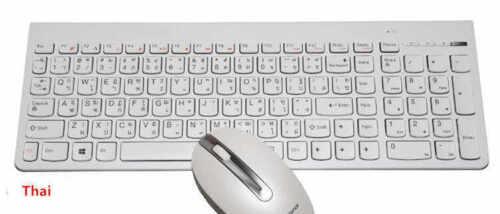 Lenovo IBM PC QWERTY Wireless Slim Thai Keyboard /& Mouse Windows Linux SK-8861