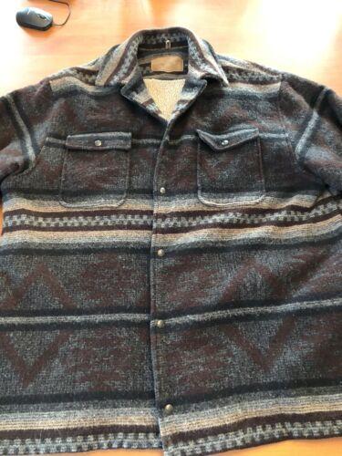 Mens Xxl Woolrich Blanket Coat Usa Made Southwest