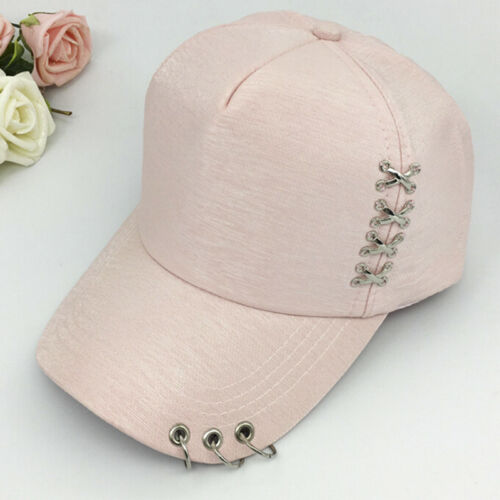 KPOP Hat  Piercing Ring Baseball Adjustable Cap Hip Hop Snapback Cap Fash ST