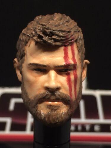 Chris H. MARVEL LEGENDS peinte//montée MCU RAGNAROK Thor 1:12 head Cast