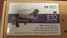Acti E32 Bullet Camera Set Of 2