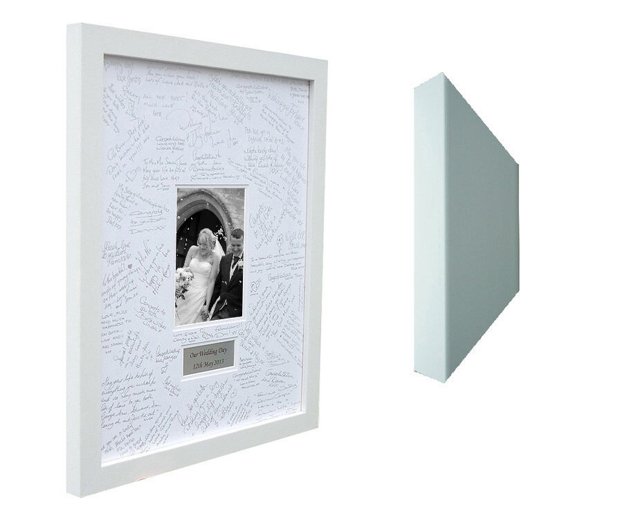 Luxury Personalised Wedding Guest Book Book Book Signing Frame - Double Mounted efbbdb