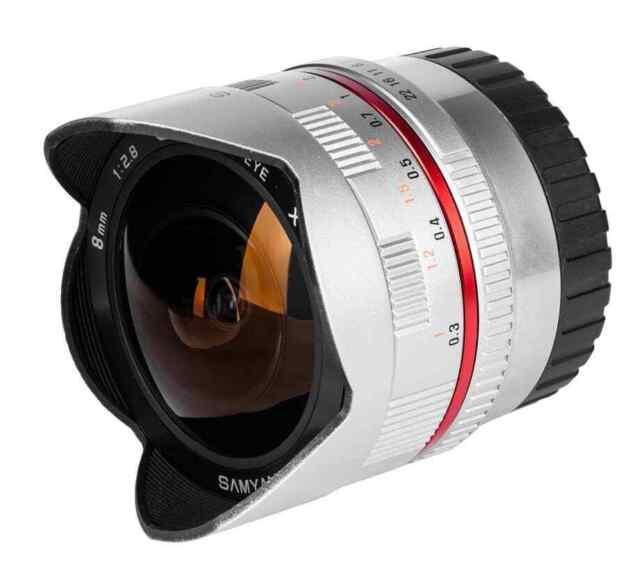 Samyang 8mm f/2.8 UMC II Fisheye Lens - Sony E mount (Silver)