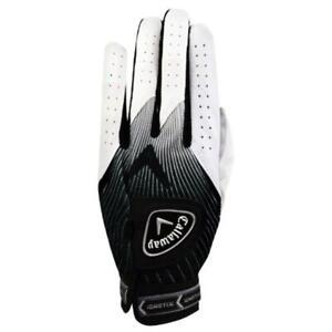 New-Callaway-Ion-X-Men-039-s-Golf-Glove-White-Black-Left-Hand-Cadet-Small