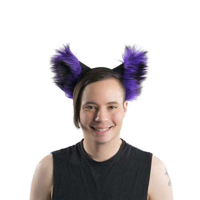 cosplay COSTUME rave goth FURRY FOX BLUE PAWSTAR WOLF EArs /& TAIL Set 4005 BL
