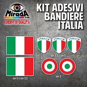 KIT-Adesivi-Stickers-PAGATINA-AUTOCOLLANT-BANDIERA-ITALIA-TRICOLORE-BIANCO