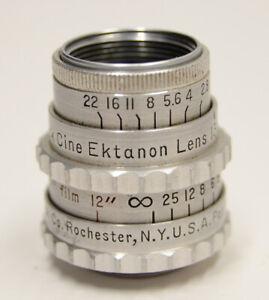 Kodak Cine Ektanon f/1.9 1.9 13mm D-Mount Prime Movie Lens M4/3 Vtg