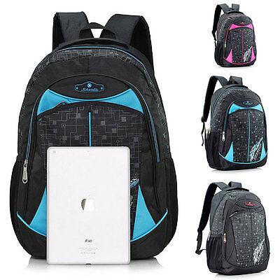 New Mens Womens Casual School Bag Bookbag Travel Hiking Backpack Rucksack