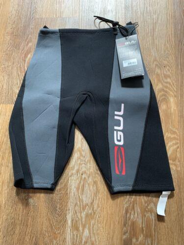 Gul Wetsuit Shorts Neoprene Response 2mm Black Grey Men's Small BNWT RRP £35