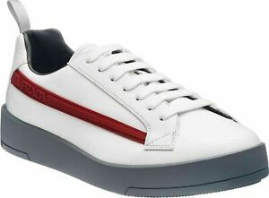Prada Iconic Vitello PLUME Mens Trainers Sneakers Shoes Schuhe Turnschuhe Neu 41