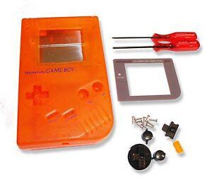Gameboy-Game-Boy-DMG-01-Console-Trans-Orange-Shell-Housing-w-Screen-amp-Tools