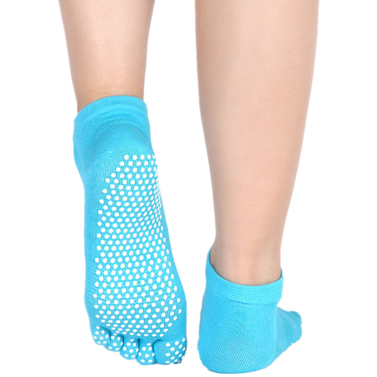 1 Pair Women Five Yoga GYM Foot Alignment Sock Ladies Massage Open Toe Separator