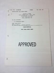 DAWSON-039-S-CREEK-set-used-paperwork-EPISODE-OUTLINE-Season-5-Episode-11