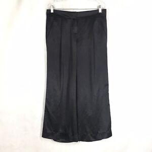 Theory-Black-Silk-Blend-Elastane-Front-Zip-Dressy-Pants-Sz-8