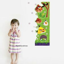 Removable Angry Birds Height Chart Measure Wall Sticker Boy Girl Child Growth
