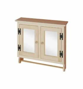 Image Is Loading Amish Unfinished Pine Bathroom Wall Medicine Towel Cabinet