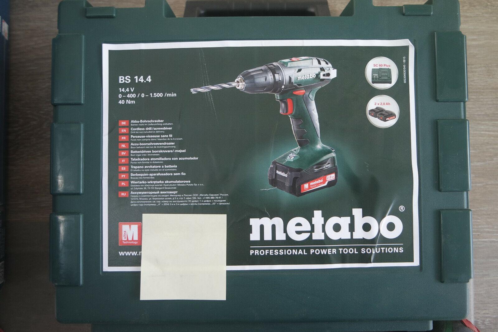 Metabo BS 14,4 Li Akku - Bohrschrauber 14,4 Volt 2,0 AH