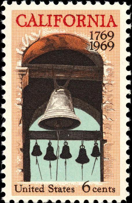 1969 6c California, Mission Bells, 200th Anniversary Sc