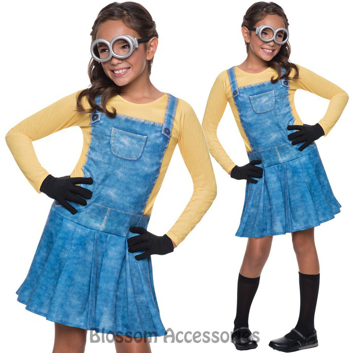 Despicable Me 2 - Female Minion Girls Child Fancy Dress Up Costume Outfit