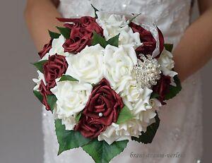 Brautstrauss Aus Rosen Mit Strass Standesamt Braut Hochzeit Neu