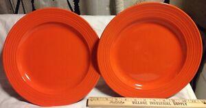 2-Royal-Norfolk-Santa-Fe-Orange-Dinner-Plates-10-1-4-Thanksgiving-Cookies-Plate