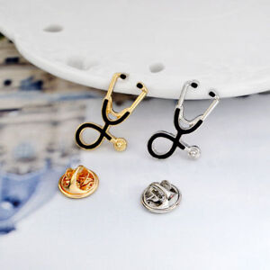 Stethoscope-Brooch-Pin-Doctor-Medical-Nurse-Clothes-Jewelry-Gift-Student-Corsage
