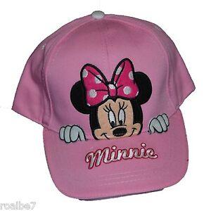 791801b616d Image is loading Authentic-Disney-Minnie-Mouse-Peeking-Girls-Baseball-Hat-