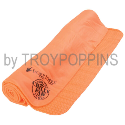 FROGG TOGGS CHILLY PAD COOLING TOWEL-CP100-HV-ORANGE HOT SUN GEAR WEATHER WORK