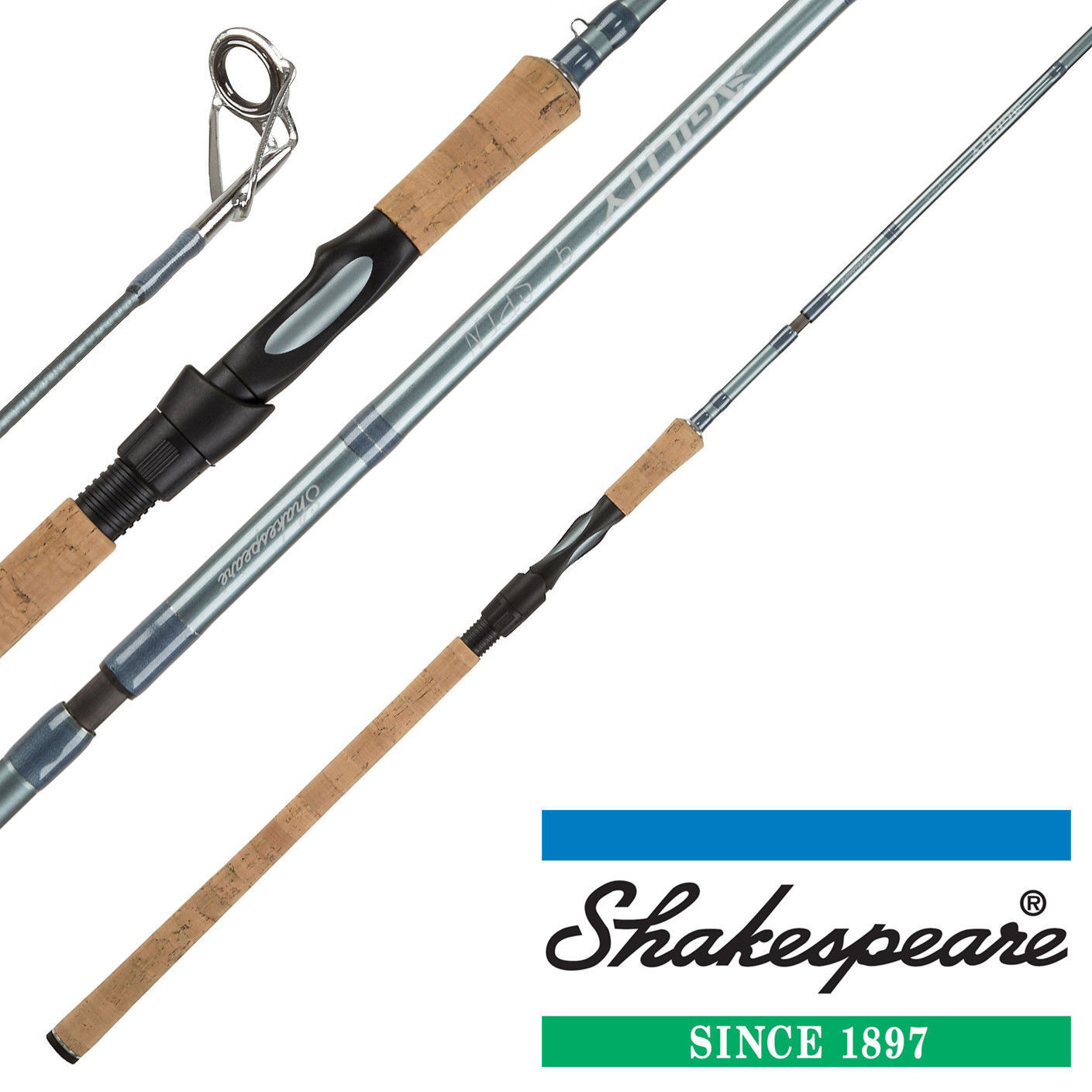 Shakespeare Agility 2 Spin Rods 4 Piece With Cordura Tube