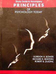 Study Guide to Accompany Principles of Psychology Today. Bower, Bootzin, Zajonc - Gdynia, Polska - Study Guide to Accompany Principles of Psychology Today. Bower, Bootzin, Zajonc - Gdynia, Polska