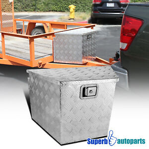 "29""x15.2""x18"" Pickup RV Truck Tongue Tool Box Under Bed Storage Trailer w/ Lock"