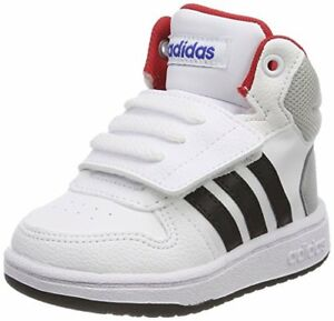 new products c6f79 587de Adidas Hoops Mid 2.0 Scarpe da ginnastica Basse Unisex-bimbi Bianco 21