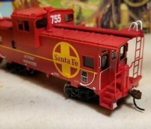 HO-Athearn-ATSF-caboose-car-for-train-set-New-RTR-Santa-fe-wide-vision