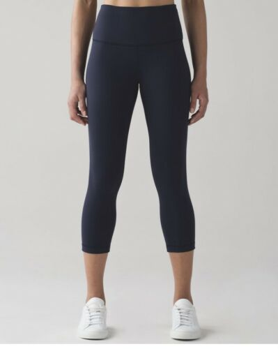 EUC Lululemon Wonder Under Leggings High Rise Crop